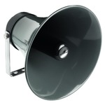 Black weatherproof 8 Ohm horn speaker with IP66 rating - 38W MAX, diameter 310mm x length 285mm