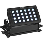 LED floodlight for outdoor applications, IP66, 3 primary colours (RGB) plus white, with colour mixer/dimmer and stroboscope...