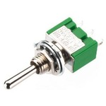 Precision toggle switch, 3A with low contact resistance of 20 mOhm max. - 1 x ON/OFF/ON