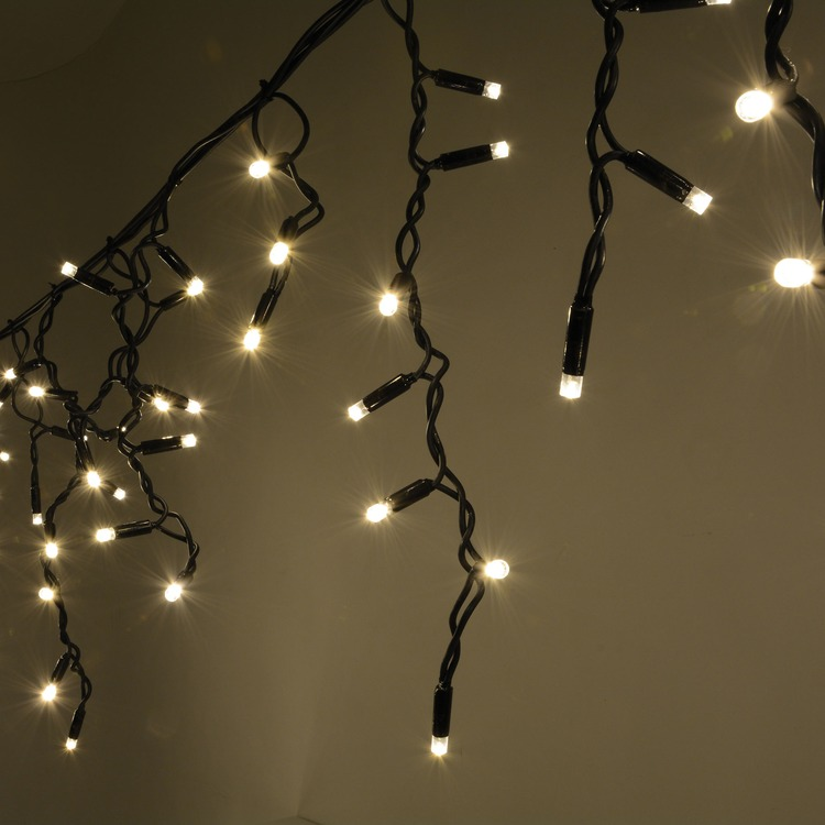 Led String Lights Warm White Outdoor : 300 Warm White Heavy Duty Outdoor Icicle LED String Lights Connevans Electronics