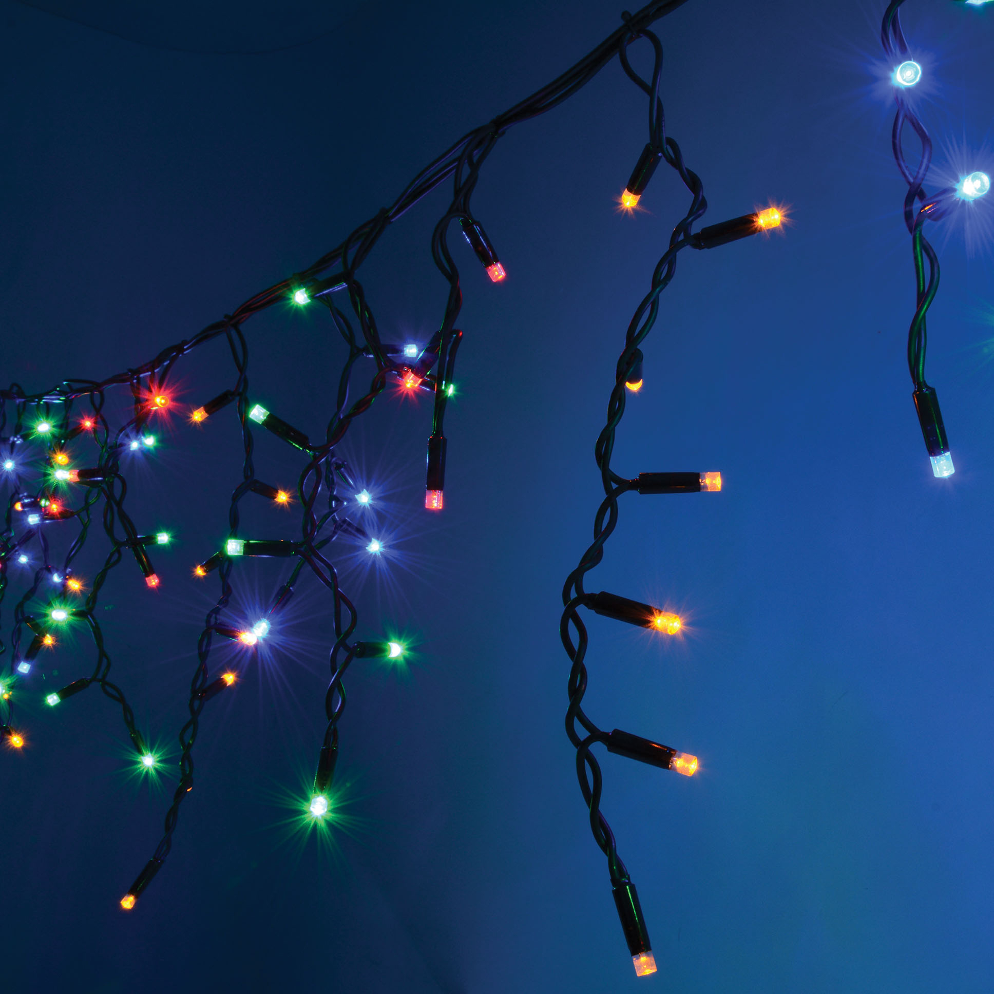 Outdoor Icicle LED string light sets Connevans Electronics